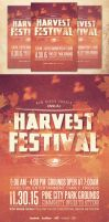 Harvest Festival Church Flyer Template by loswl