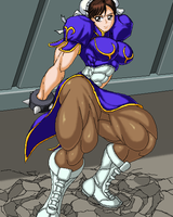 Chun-li lifting huge Container by RENtb