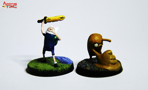 the Finn and Jake miniature set by TheMiniverse