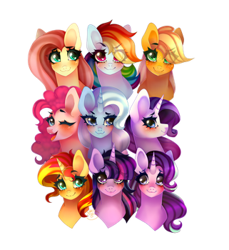 The Mane 9 by NikkiKittyx