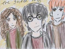 The trio (Harry Potter) by Fran48