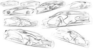Peugeot SC-1 Sketches by dyrborgdesign