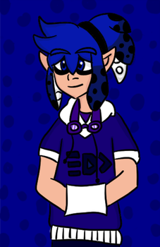 back @ it again with the splatoon oc by johtos-king