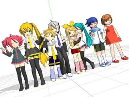 baby vocaloids by tinabella