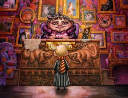 Umbridge's Office by feliciacano