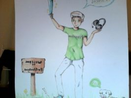 Tobuscus and Gryphon On a minecraft adventure!!! by xDoodlemonsterx