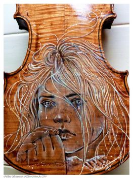 Gypsy girl violin by Hollow-Moon-Art