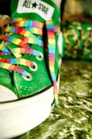 greeeeeen converse by TrishaMonsterr