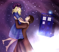 Rose Tyler and the Tenth Doctor by RisaStorm