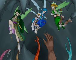 SAO - Trapped in Cave by jjavangard
