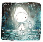 The white ghost under the rain by Foyaland