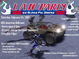 February 2007 LAN Party Flyer by Skelefish