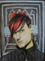 Klayton Celldweller in Oil Pastels by MistressMadness