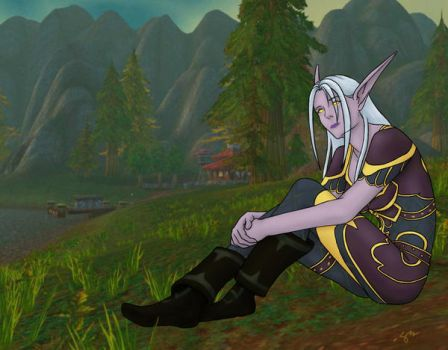 World of Warcraft Night Elf by emimonster