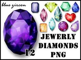 Jewerly Diamonds PNG Pack by bluezircon-graphics