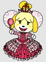 Isabelle as Princess Vanellope by Death-Driver-5000