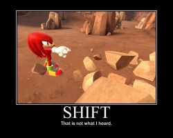 Shift Motivational Poster by Sonicluvr5