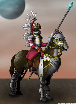 40k Imperial Guard Winged Hussar Rough Rider by Empyronaut