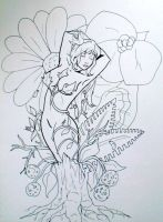 Poison Ivy lineart by Snappedragon