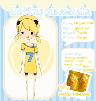 .: Darling Desserts App - Megumi-chan :. by missdoodle-heart