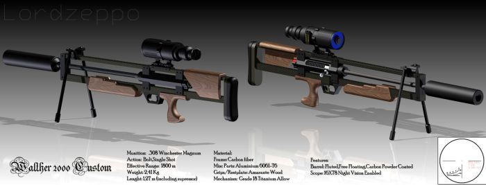 Walther 2000 Custom WA2000 by lordzeppo