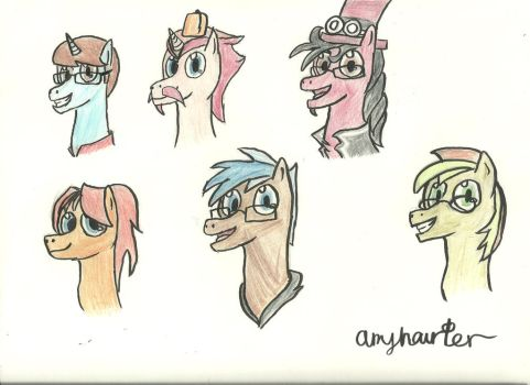 Brony heads by Amyhaunter