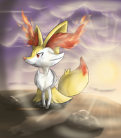 Braixen by Cinnamon-Quails