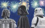 Star Wars Original Art - Happy New Year 2015 by DenaeFrazierStudios