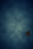 iPhone 4S Blue Wallpaper Black Logo by SimpleWallpapers