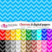 Monochromatic Chevron digital papers by PolpoDesign