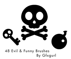 Evil and Funny Brushes. by gfxgurl