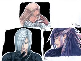 Final Fantasy Series Portraits Raw by Nick-Ian
