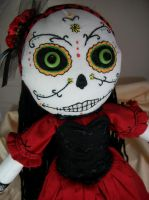 Day of the dead lady by dollmaker88