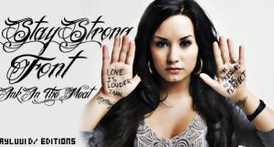 Stay Strong font by Ayluu1D