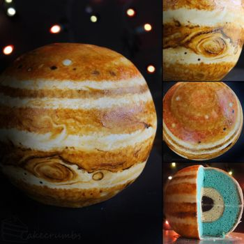 Jupiter Structural Layer Cake by cakecrumbs