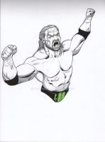 WWE Triple H by RadPencils