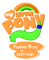 MLP Commission - Flaming Pizza is Bestpony by MLPBlueRay