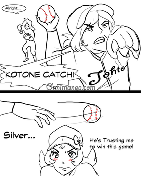 .:Soulsilvershipping baseball AU:. pg2 by Sonicsis