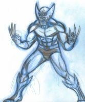 wolverine sketch commission by AlanSchell