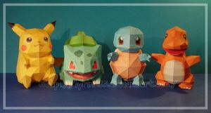 Papercraft Pokedolls so far by Lyrin-83