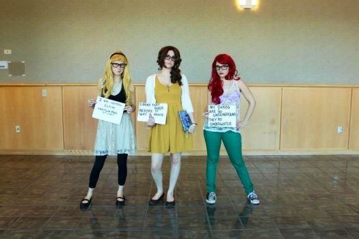 Hipster Disney Princesses by Namine-YaoiLover