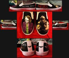 Joker / Bane Shoes by pixi996