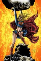 Supergirl Rocks! by MarcBourcier