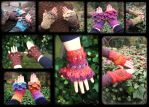 Fairy Mittens and Cuffs I make by MademoiselleOrtie