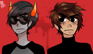 trollDave+humanKarkat by bannaray4