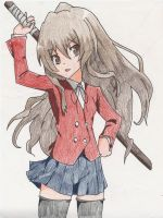 Taiga Aisaka COLORED by poisonfrost