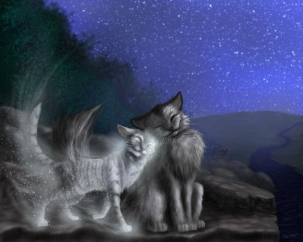 Graystripe and Silverstream by Sirmaril