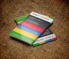 Colorful Corporate Business Card by es32