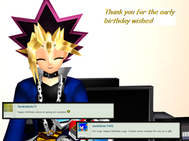Question 1482 ~Early Birthday Wishes~ by AskMMDYugi