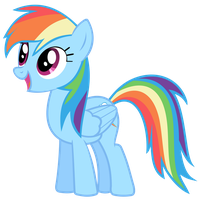 Rainbow Dash Vector - WOW! Really? by Anxet